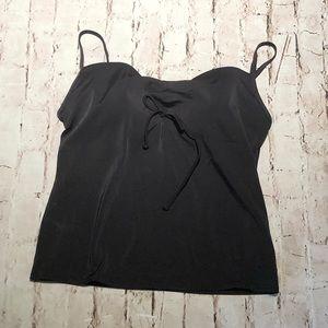 NWT woman's black Tankini top built in bra 36DD